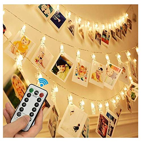 CHUDAN fotoclip afstandsbediening kabel verlicht 40 LED acht functies waterdicht clip afstandsbediening batterij doos licht snoer zonder batterij