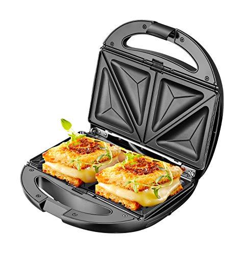 ADLER AD 3040 - Sandwichera 5 en 1, multifunción, tostadora de pan, sandwichera con parrilla, 1200 W, gofrera de hierro, horno para nueces, parrilla de contacto, parrilla de doble cara
