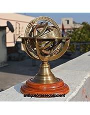 Asmara Nautical ANIQUE Vintage MERITIME Brass Armillary Sphere Globe COLECTIBLE Nautical Decor
