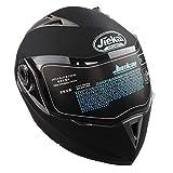 Zerone Motorradhelm, DOT Full Face Flip Up Motorradhelm Dual Visier Street Sport Bike Race XL...