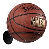 Wallniture Sporta Wall Mounted Sports Ball Holder Rack Display Storage Steel (Black)