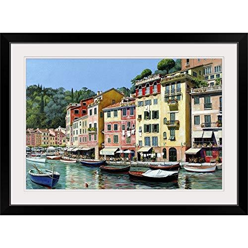GREATBIGCANVAS Portofino Black Framed Wall Art Print24 x16 x1
