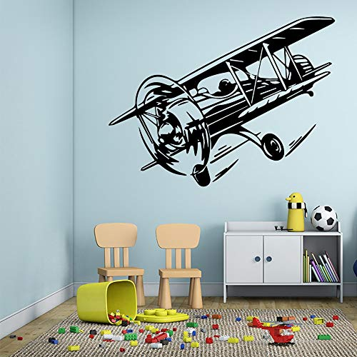 Tianpengyuanshuai fun vliegtuig wandtattoo kinderkamer decoratie wandsticker kunst wandtattoo