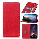 ftrongrt compatibile per wiko view 4 lite cover, con slot per schede, staffa, magnetico, pu portafoglio flip cover custodia per wiko view 4 lite. (rosso)