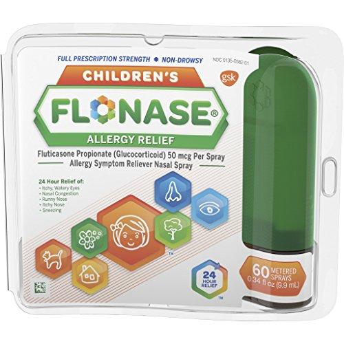 Children's Flonase Allergy Relief Nasal Spray, Allergy Medicine 24 Hour Non-Drowsy, 60 sprays