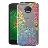 Zhuofan Plus Coque Motorola Moto G5S Plus, Silicone Transparente avec Motif Design Antichoc Housse...
