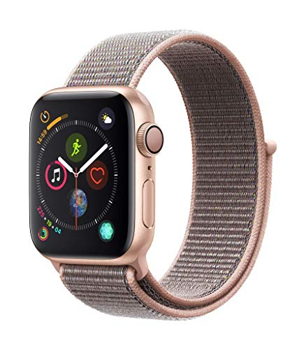 Apple Watch Series 4 (GPS, 40mm) Cassa in Alluminio Oro e Sport Loop Rosa Sabbia