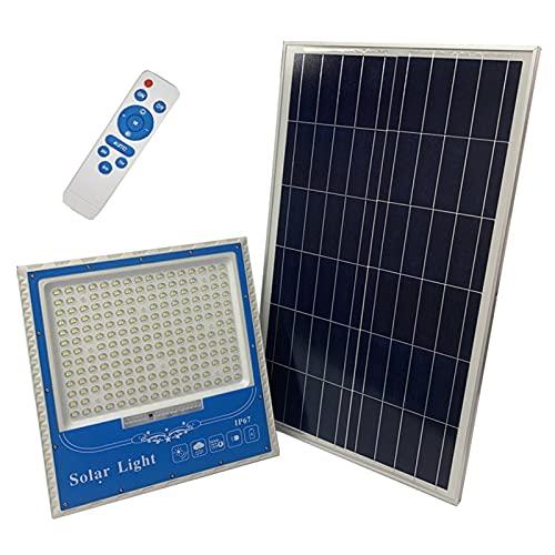 YLR 100w 200w 300W Foco Solar Exterior, 6000k Proyector Led Exterior Solar 120 LED 240 LED 400 LED, IP67 A Prueba De Agua 3300lm 6700lm 11000lm Luz Led Solar Exterior(Size:200w,Color:Luces solares)
