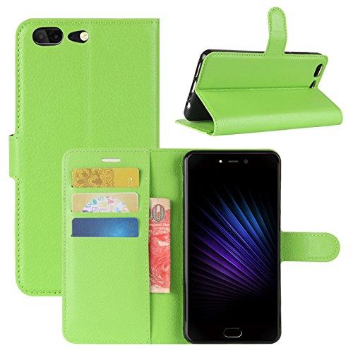 HualuBro Leagoo T5 Hülle, [All Aro& Schutz] Premium PU Leder Leather Wallet Handy Tasche Schutzhülle Hülle Flip Cover mit Karten Slot für Leagoo T5 Smartphone (Grün)