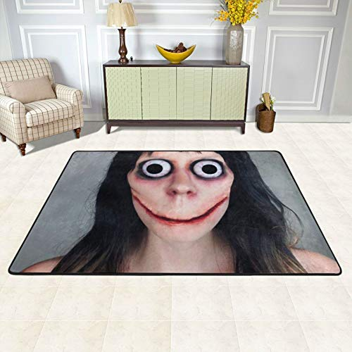 Ultra Soft Indoor Modern Area Rugs Bedroom Living Room Vampire Fangs Black Red (10) Carpets Suitable for Children Bedroom Home Decor Nursery Rugs 72 X 48 Inch