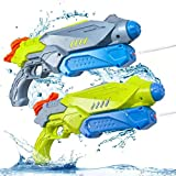 Water Guns for Kids, 2 Pack Squirt Gun Super Water Soaker Blaster 600CC Capacity with 27 Ft Shooting Range Water Toy for Boys and Girls Summer Swimming Pool Beach Sand Water Fighting Toy