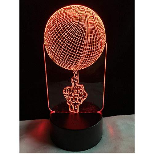 Hauptdekorationen Freistil Basketball 3D LED Lampe USB Multicolor Mittelfinger Party Sport Wettbewerb Dekorative Schlafzimmer Nachtlicht Tisch Geschenk