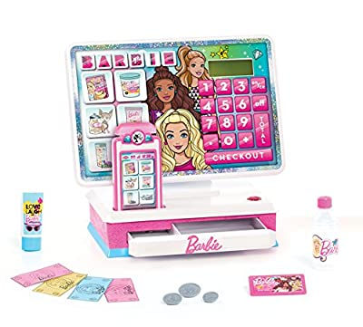 Barbie Large Cash Register, Interactive Toy with Lights, Realistic Sounds, and Pretend Play Money from Just Play