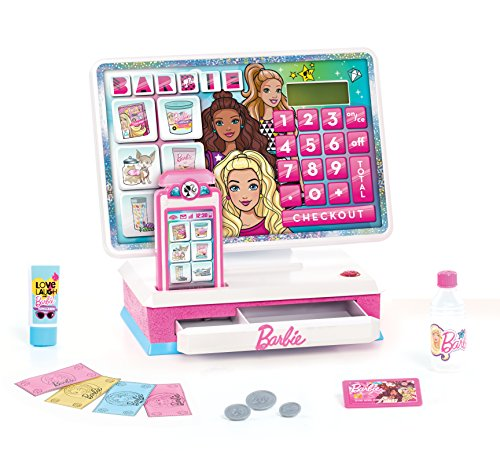 Barbie Large Cash Register, Interactive Toy with Lights, Realistic Sounds, and Pretend Play Money