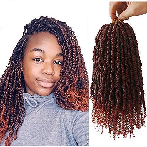 Flyteng fluffy spring twist hair 14inch 4 packs bomb twist crochet braids hair extensions senegalese spring twist crochet hair T350…