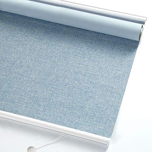 Rullgardiner mörkläggning fönstergardiner hög skuggning fjäder lyft gardin anti-UV andningsbart sekretessskydd persienner, anpassad storlek (färg: B, storlek: 80 x 160 cm)