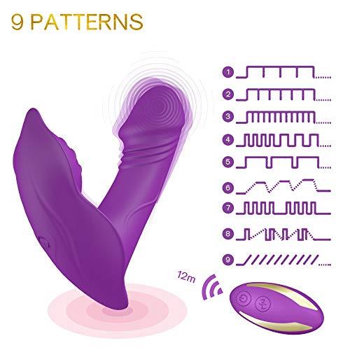 Sqlit Frauen unsichtbare clitorial Tragbarer Massagegerät mit Fernbedienung Vibrieren Spielzeug for Frauen, 10 Frequency Wireless Remote Lovetoy by