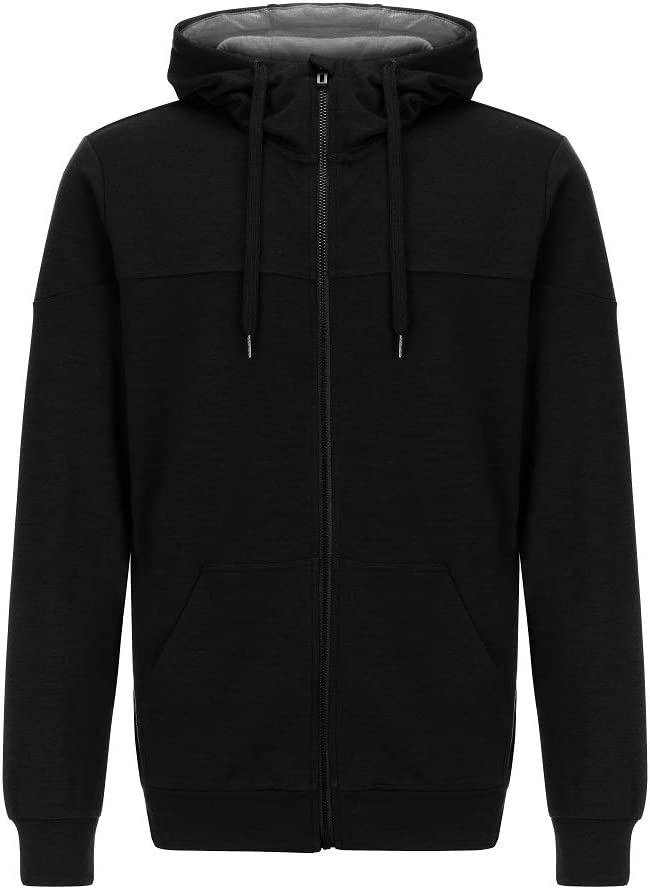 Supernatural Riffler Zip Sweat à Capuche Homme Noir/Gris Clair Chiné.