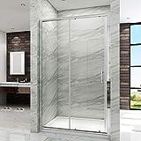 SIRHONA Porte de douche coulissante 120 cm Paroi douche en verre trempé sécurit...