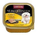 animonda Vom Feinsten Adult Hundefutter, Nassfutter für ausgewachsene Hunde, Schlemmerkern mit Rind, Bananen + Aprikosen, 22 x 150 g
