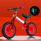WJS Bici Sin Pedales Niño,Bicicleta Sin Pedales 2-6 Años,12'...