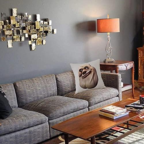 Federa decorativa per cuscino Arredamento umoristico, faccina imbarazzante con gesto facciale insolito Brutto finto compiaciuto Fo Fodera per cuscino quadrato per divano letto di casa 45X45cm
