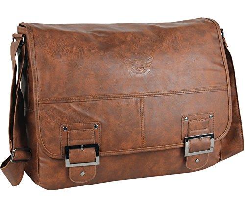 Daniel Ray Schultertasche HAVANNA Umhängetasche Messenger Laptop Tasche Schultasche Cognac