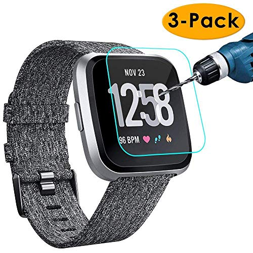KIMILAR [3-Pack] Screen Protector Compatible with Fitbit Versa/Versa...