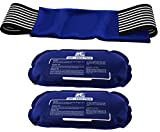Ice Pack (2-Piece Set) – Reusable Hot and Cold Therapy Gel Wrap Support Injury Recovery, Alleviate Joint and Muscle Pain – Rotator Cuff, Knees, Back & More (3 Piece Set - Classic)