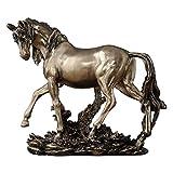 SDBRKYH Estatua Decorativa del Caballo, decoración del Escritorio del gabinete del Vino de la Sala de Estar de la Estatua del Caballo de la Escultura del Caballo 24 * 20.5 * 10Cm