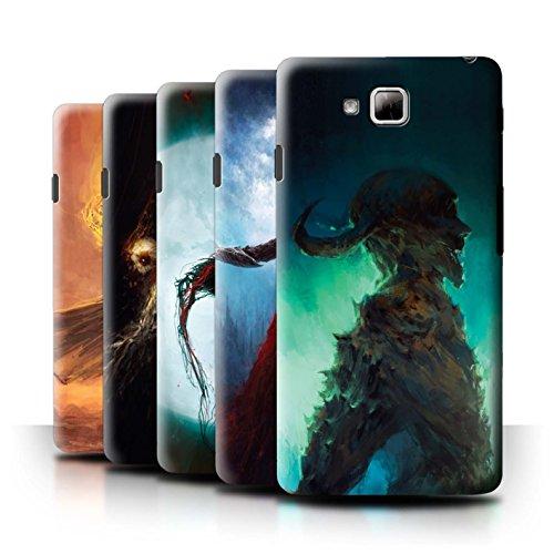 Oficial Chris Cold Carcasa/Funda/Case dura para el LG Optimus L9 II/D605 / serie: Bestia Demoníaca - 6pcs Paquete