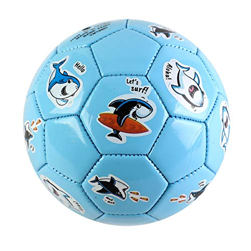 EVERICH TOY Soccer Balls for Toddlers-Baby Ball Game Set for Kids-Sport Ball Toy for Outdoor/Indoor (Size 2 Toddler Soccer Ballswith Pump) (Blue Shark)