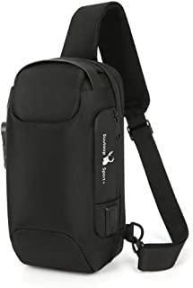 BeniNew simple and large capacity men's multifunctional casual shoulder bag anti-theft chest bag