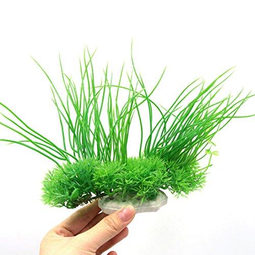 sourcingmap® Künstliche Wasser Aquarium Gras Lang Blatt Pflanze Landschaft Decor – Grün/Gelb - 3