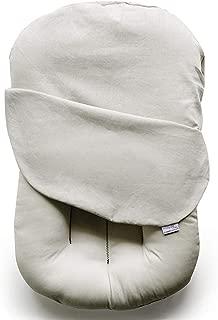Snuggle Me Organic | Baby Lounger & Infant Floor Seat| Newborn Essentials | Organic Linen, Virgin Fiberfill |Oat