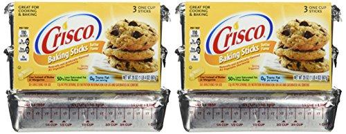 Crisco, Baking Sticks, Butter Flavor, All Vegetable Shortening, 20oz Package (Pack of 2)