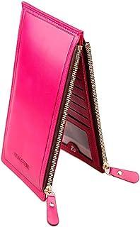 LONGBO Credit Card Holder Front Pocket Wallet Minimalist Wallets Credit Card Leather Wallet Retro wallet