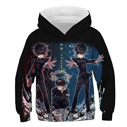 Mob Psycho 100 Pullover Gruesa suéter del algodón de la Vendimia Abrigos Largos de Manga con Capucha de Ocio Outwear niños y niñas