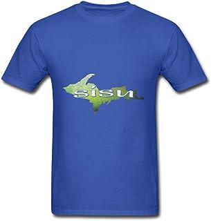For Men Cotton Color Designed Short-sleeve Stylish U.p. Sisu Upper Peninsula Michigan Finland Finnish Shirts Size
