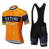 Ropa Ciclismo Verano Hombre Equipacion Traje Ciclismo Hombre Maillot Ciclismo + Pantalon Bicicleta para Ropa Ciclista MTB