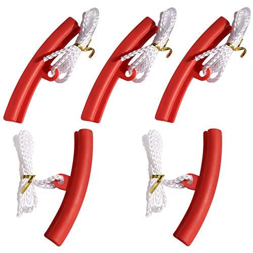 IWILCS 5PCS protección de llanta de llanta, Protector de llanta de Motocicleta de 15 cm, Protector de llanta de automóvil Cambio de llanta con Orificio Cuerda