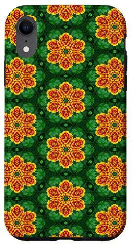 iPhone XR Case - orange and green kaleidoscope pattern phone Case