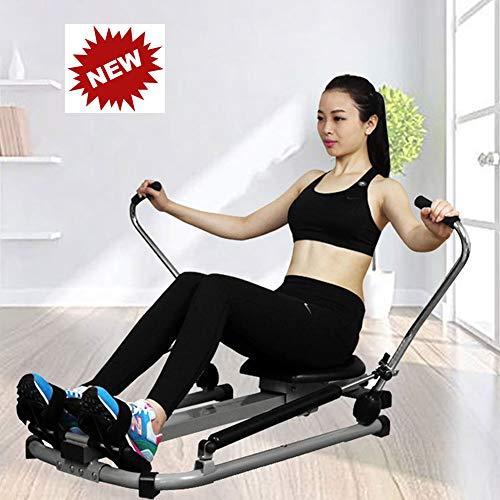QINYUP Rudergerät Heimwasserbeständigkeit Hydraulische Rudergeräte Indoor Fitnessgeräte Bauchmuskeln Fitness
