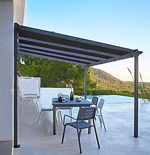 Shatex Shade Panel Block 90% of UV Rays with Ready-tie up Ribbon for Pergola Gazebo Porch, Black (12x16ft)