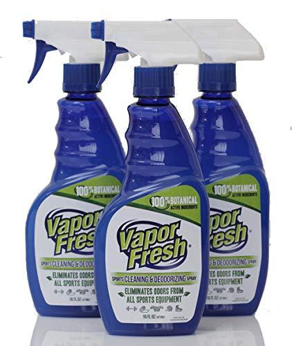 Vapor Fresh Natural Cleaning and Deodorizing Spray - Great for Sports Pads, Boxing Gloves, Gym Equipment, Yoga Mats, Shoes and More, 16 Ounces (3-Pack)