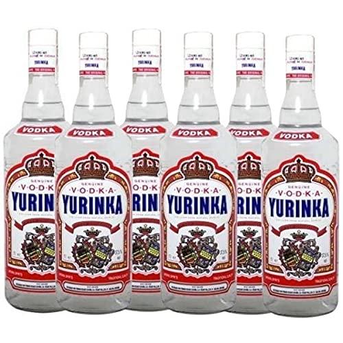 Vodka YURINKA - Caja de 6 Botellas de 1 Litro