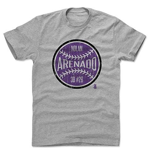 500 LEVEL Nolan Arenado Shirt (Cotton, Large, Heather Gray) - Colorado Men's Apparel - Nolan Arenado Ball P