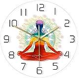 Reloj de Pared Meditación Espiritual Abstracto Arco Iris Acuarela Reloj de Pared Reloj de Escala...