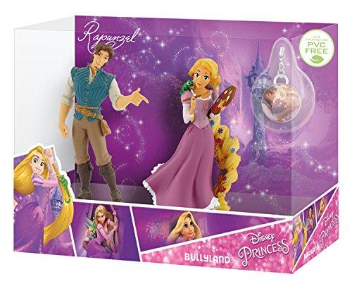 Bullyland 13417 - Spielfiguren in Geschenkpackung, Walt Disney Rapunzel und Flynn Rider mit Schmuckanhänger