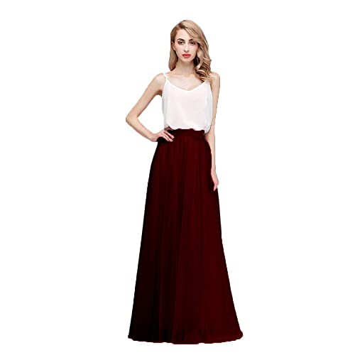 Honey Qiao Women s Maxi High Waist Skirts Blush Tulle Holiday Formal Skirt 18c0464f9
